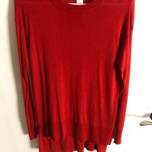 High-low long sleeve sweater (XS)